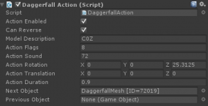 New DaggerfallAction Editor Window